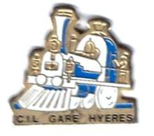 P'TITS TRAINS - P253 - CIL - GARE HYERES - Verso : BANZAI - TGV