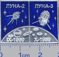 142-13 Space Russian Pin. Luna-2-3. Soviet Moon Program - Space