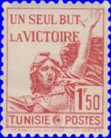 Tunisie 1943. ~  YT 244* - Marseillaise, De Rude - Tunisie (1888-1955)