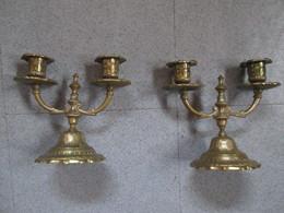 2 Chandeliers En Bronze - Otros
