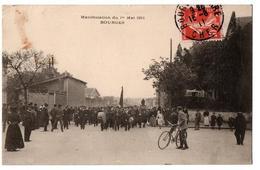 BOURGES MANIFESTATION DU 1ER MAI 1911 TRES ANIMEE - Bourges