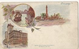 CPA,Précurseur ,USA , N°4, Chicago , Ed . American Souvenir Card - Dos Simple 1897 - Chicago