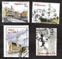 TIMBRES FRANCE....OBLITERATION RONDE.....2007....BRUXELLES...N°4073/4076....VOIR SCAN - France