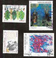 TIMBRES FRANCE......OBLITERATION RONDE.....2011...N°.4536/4537/4542/4551....VOIR SCAN - France