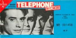 Ticket De Concert - Groupe De Rock Telephone - 14 Octobre 1984 - Zenith De Paris - Jean-Louis Aubert - Biglietti Per Concerti