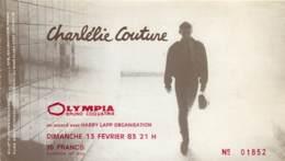 Ticket De Concert - Charlelie Couture - 13 Février 1983 - Olympia De Paris - Concerttickets