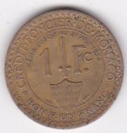MONACO. BON POUR 1 FRANC 1924 POISSY. LOUIS II. Bronze-aluminium - Mónaco