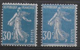 1924 - YVERT N° 192 - TYPES IIA + IIB ** MNH - SEMEUSE - France