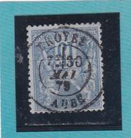 SAGE N° 90  / TYPE II B    - CACHET A DATE TROYES / AUBE - 30 MAI 1879    REF 1602 - 1876-1898 Sage (Type II)