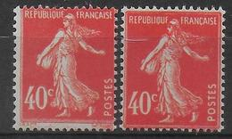 1924 - YVERT N° 194 - TYPES I + II ** MNH - SEMEUSE - France