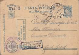 MILITARY CENSORED, WW2, KING MICHAEL PC STATIONERY, ENTIER POSTAL, 1942, ROMANIA - Cartas