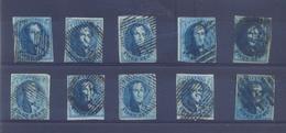 10 X Medaillon 20ct Blauw Gestempeld - 1858-1862 Medaillen (9/12)