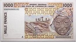 Côte D'Ivoire - 1000 Francs - 1999 - PICK 111 Ai - NEUF - États D'Afrique De L'Ouest