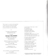 RIJKSWACHTER G.BALLEGEER °ASSEBROEK 1921 +GENT 1986 (E.NEIRYNCK) - Images Religieuses