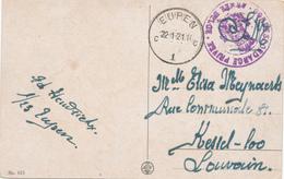 30/579 -- CANTONS DE L'EST - Carte Fantaisie EUPEN En S.M. 1921 Vers KESSEL-LO - Corresp. Privée Armée Belge - Poststempels/ Marcofilie