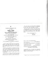 RIJKSWACHTER A.LEYS °ST.DENIJS WXESTREM 1928 +VINDERHOUTTE 1986 (M.VAN RAEMDONCK) - Images Religieuses