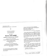 RIJKSWACHTER M.VAN DAMME °ST.KRUIS WINKEL 1920 +MERELBEKE 1981 (A.VERNIEST) - Images Religieuses