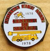 SAPEURS POMPIERS - SERVICE DU FEU - INDIANA FIRE ASSN - 1878/ 1978 - CENTURY OF SERVICE - CAMION - TRUCK - USA- (23) - Bomberos