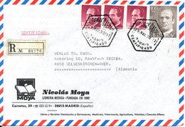 Spain Registered Cover Sent To Germany Madrid 29-5-1990 - 1931-Aujourd'hui: II. République - ....Juan Carlos I