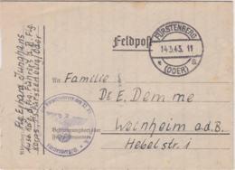 German Feldpost WW2: Ausbildungskommando Des Fliegerführers Des XI. Fliegerkorps T.S. Fürstenberg - Militaria