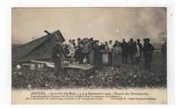 ANVERS - Incendie Des Bois (4 Et 5 Sept. 1907) Brand Der Houtstapels. De Inwoners Der De Clercksteeg,vluchten In De Omli - Antwerpen