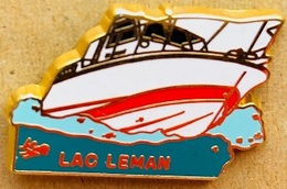 BATEAU BLANC - HORS BORD - LAC LEMAN - EGF - LALANDE & COLLIN - PARIS - (23) - Barcos
