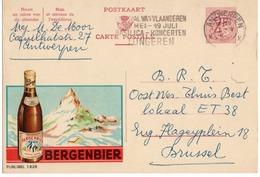 Publibel - 1828 NF - BERGENBIER -  FLAMME BASILICA - KONCERTEN TONGEREN - ANTWERPEN. - Publibels