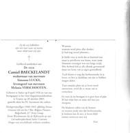 RIJKSWACHTER C.BAECKELANDT °AALTER 1926 +VEURNE 2003 (S.LUCKX, M.VERSCHOOTEN) - Images Religieuses