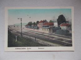 CPA CHATEAU SALINS Bahnhof - La Gare - Chateau Salins