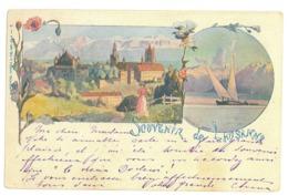 EL 03 - 17048 LAUSANNE, Litho, Switzerland - Old Postcard - Used - 1899 - VD Vaud
