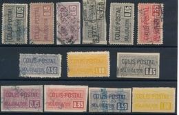 """DG-3: FRANCE: Lot """"COLIS POSTAUX"""" Avec N°15/27 Obl Sauf 27*  1er Et 2ème Choix - Colis Postaux"""