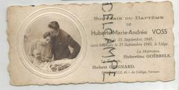 Mignonnette. Couple Et Bébé En Médaillon. Huberte Voss Née Le 15 Septembre 1945. - Geburt & Taufe