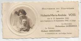 Mignonnette. Mère Et Bébé En Médaillon. Huberte Voss Née Le 15 Septembre 1945. - Geburt & Taufe