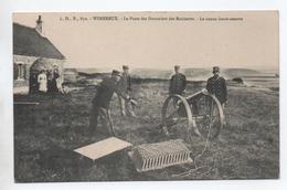 WIMEREUX (62) - LE POSTE DES DOUANIERS DES ROCHETTES - LE CANON LANCE AMARRE - Autres Communes