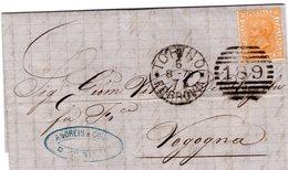 LETTERA ITALIA REGNO 1878 ITALY COVER Italian Briefmarken - 1861-78 Victor Emmanuel II.