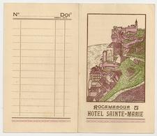 PUBLICITE - France: Hôtel Sainte-Marie  Rocamadour  Descomps-Martial Propriétaires, Téléphone :7 - Etiquettes D'hotels
