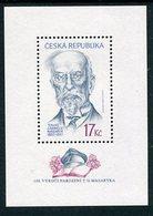 CZECH REPUBLIC 2000 Masaryk Birth Centenary Block MNH / **.  Michel Block 11 - Repubblica Ceca