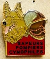 SAPEURS POMPIERS - CHIEN - BERGER ALLEMAND - CYNOPHILE - CASQUE - DOG - HUND - (23) - Pompiers
