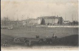 D86 - LA PUYE  - VUE GENERALE DE LA COMMUNAUTE DES FILLES DE LA CROIX (SUD) - Personne Avec Plusieurs Vaches - France