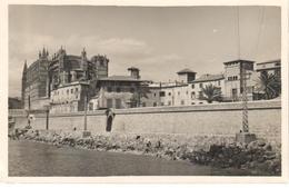 POSTAL    PALMA DE MALLORCA  -MALLORCA  - MURALLA DEL MAR Y LA SEU - Palma De Mallorca