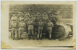Carte Photo De Groupe . Artillerie . 511 Sur Les Cols . Char . - Reggimenti