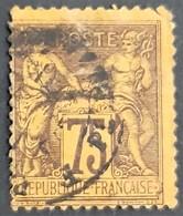 FRANCE - N° 99 - 75c. Violet Sur Orange - 2eme Choix - Oblitéré (o) - 1876-1898 Sage (Tipo II)
