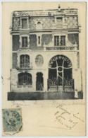 La Délivrande . Pharmacie Lesage . Façade Art Nouveau . Convoyeur Courseulles à Caen 1905 . - La Delivrande