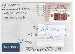 : Beau Timbre , Stamp   Sur Lettre , Cover , Mail Du 08/01/2008 Pour La France - [7] West-Duitsland