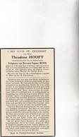 RIJKSWACHTER T.HOOFT °BRUSSEL 1871 +CONTERDAM-STEENE 1940 (E.MEWIS) - Images Religieuses