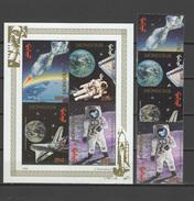 Mongolia 1994 Space, Apollo Set Of 4 + S/s MNH - Espacio
