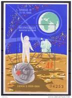 Mongolia 1969 Space Apollo 11 S/s MNH - Espacio