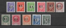 1944 - LIBERATION - POITIERS TYPE IV - YVERT N° 2/12 ** MNH - COTE =  110 EUR. - - Liberation
