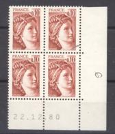 CD  345  -  France  -  Coins Datés  :  Yv  1965   **      22-12-80 - 1970-1979