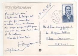 """: Beau Timbre , Stamp  Yvert N° 516 """" Magnus Stephensen """" Sur Cp , Carte , Postcard Du 21/07/1981 Pour La France - 1944-... Repubblica"""